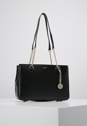 POLLY TOTE SUTTON - Handbag - black gold