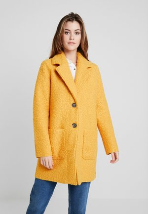DOUBLEFACE COAT - Short coat - merigold yellow