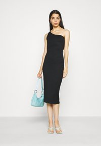 Gina Tricot - JOLINE ONE SHOULDER DRESS - Jersey dress - black - 1