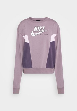 HERITAGE CREW  - Sweatshirt - purple smoke/dark raisin/pink foam/white