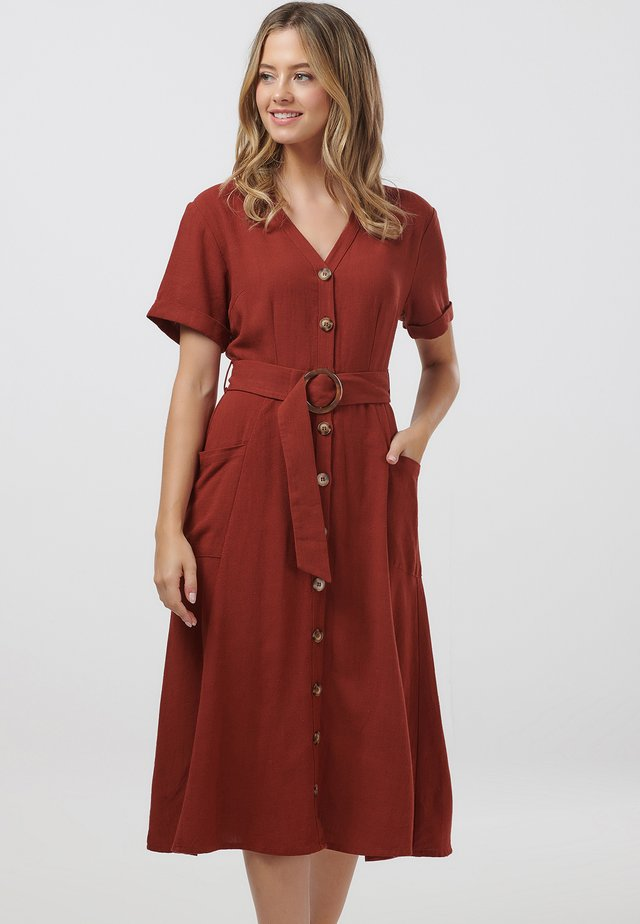 CASSIDY - Shirt dress - rust