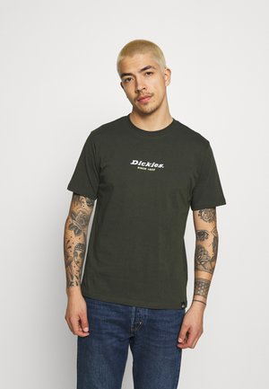 CENTRAL TEE - Print T-shirt - olive green