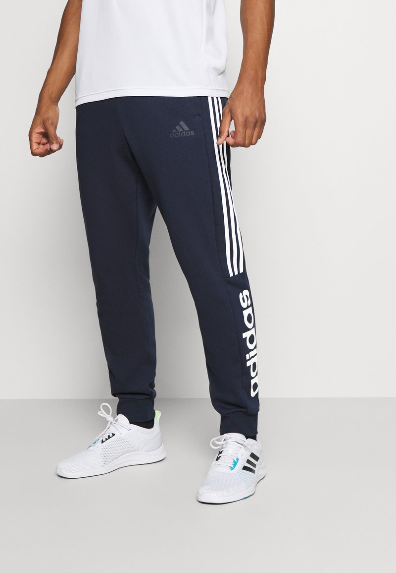 adidas Performance - ESSENTIALS TRAINING SPORTS PANTS - Pantaloni sportivi - LEGINK/WHITE