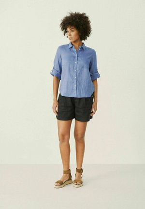 Button-down blouse - colony blue