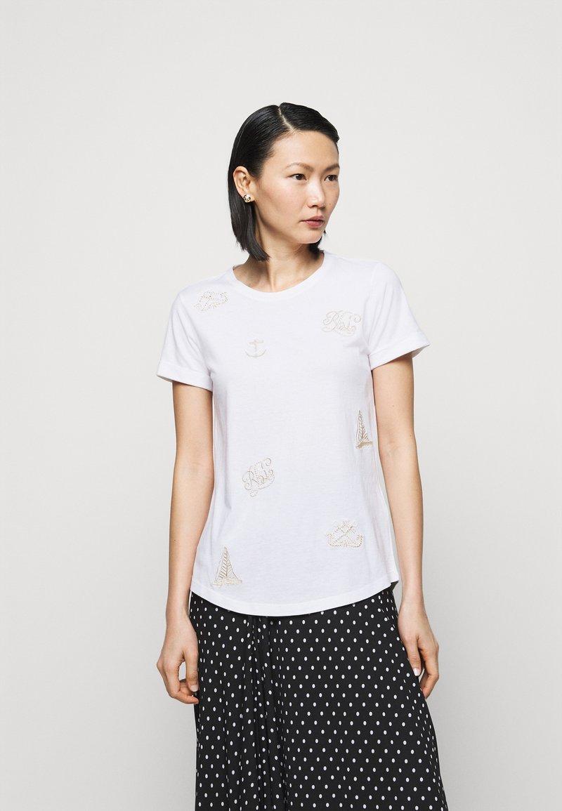 Lauren Ralph Lauren - UPTOWN - T-shirts med print - white