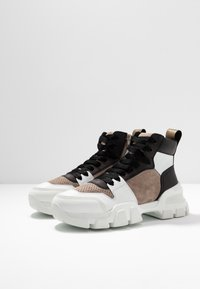 Kennel + Schmenger - ACE - High-top trainers - bianco/taupe/gold - 4