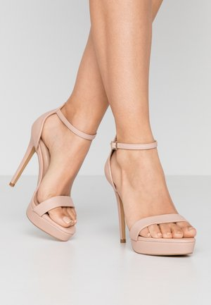 WIDE FIT MADALENE - High heeled sandals - bone