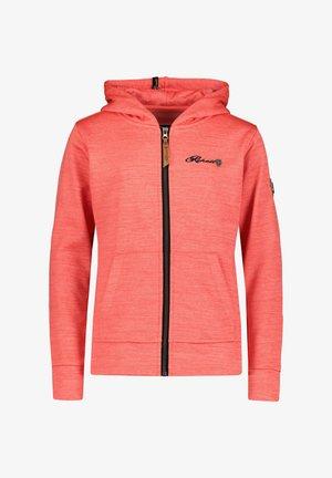 ROSE-R - Zip-up sweatshirt - koralle