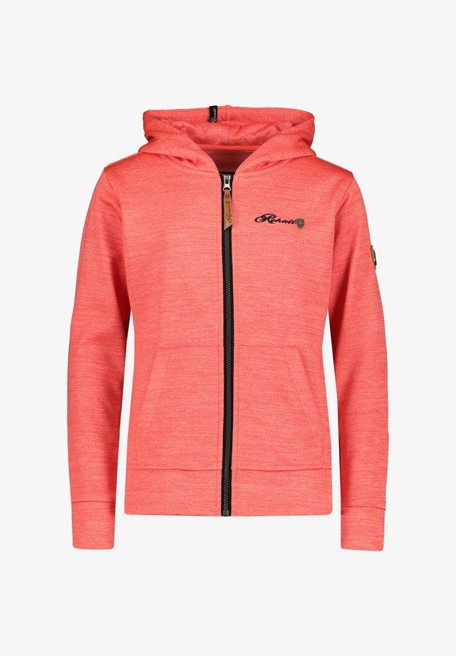 ROSE-R - Zip-up hoodie - koralle