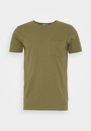 WASHED TEE - Camiseta básica - army