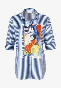 JUST WHITE - Button-down blouse - indigo streifen - 3