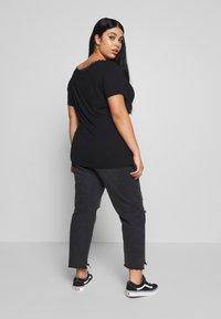 Anna Field Curvy - BASIC T-SHIRT - Print T-shirt - black - 2