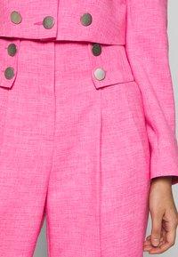 Topshop - PINK BUTTON DETAIL  - Pantalones - pink - 4