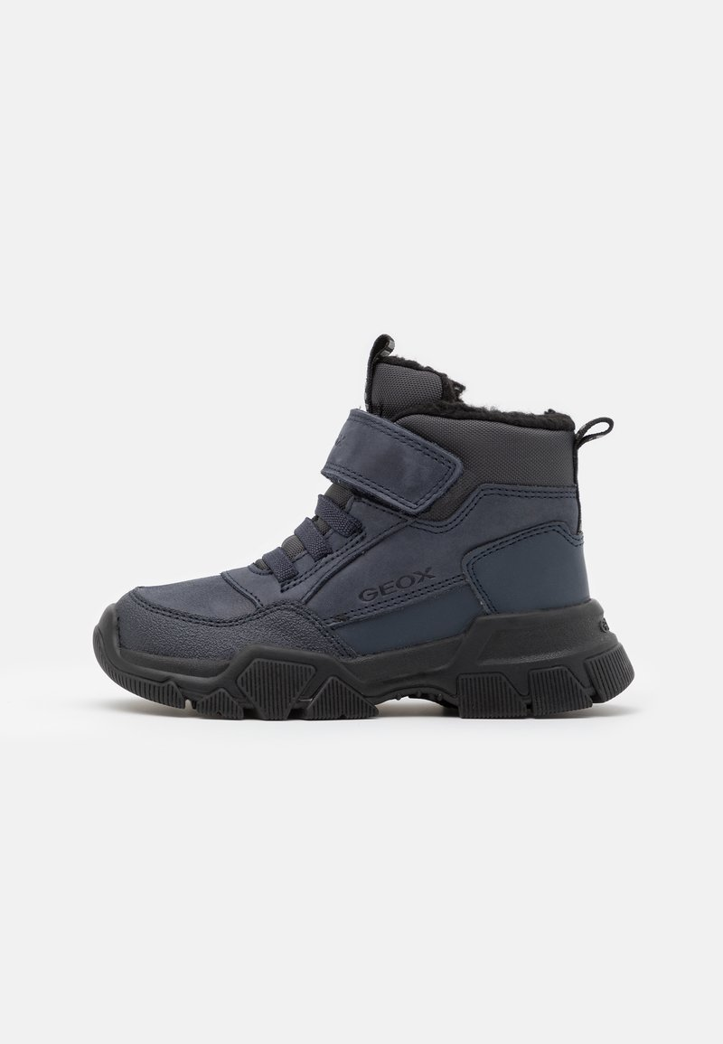 Geox - NEVEGAL BOY - Lace-up ankle boots - navy/black