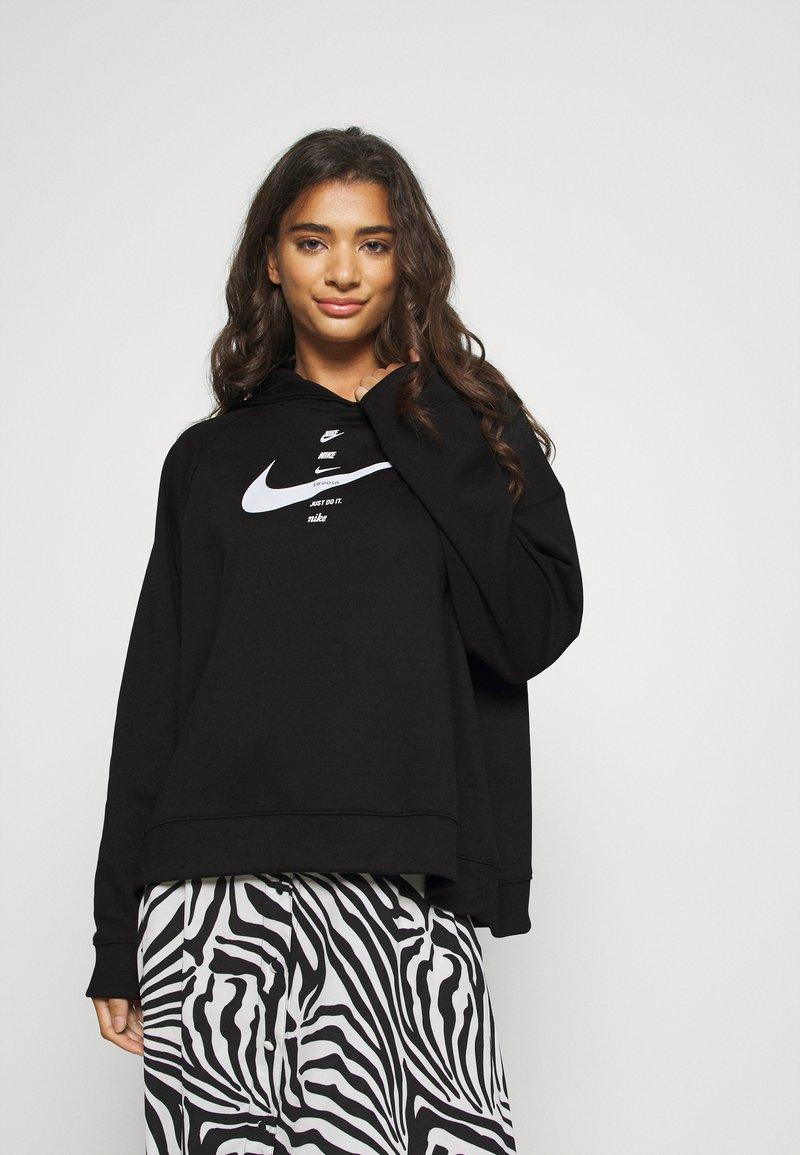 Nike Sportswear - HOODIE  - Felpa con cappuccio - black/white