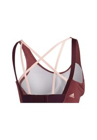 adidas Performance - STRONGER FOR IT ALPHA BRA - High support sports bra - red - 8