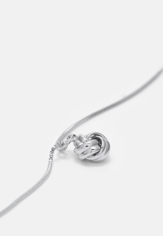 KNOT SMALL PENDANT - Ketting - silver-coloured