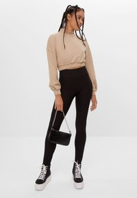 Bershka - Leggings - Trousers - black - 1