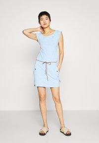 Ragwear - TAG ZIG ZAG - Jerseykleid - blue - 1