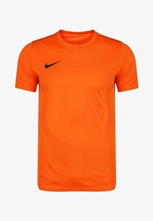 DRI-FIT PARK - Basic T-shirt - safety orange / black
