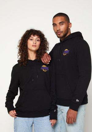 NBA LOS ANGELES LAKERS NEON HOODY UNISEX - Klubové oblečení - black
