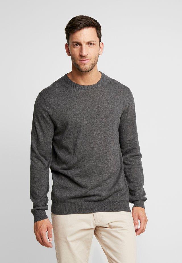 CREW - Stickad tröja - dark grey