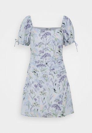 RUCHED PUFF DRESS - Vestido de cóctel - multi-coloured