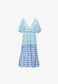 Uterqüe - Day dress - blue - 4