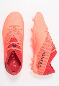 adidas Performance - NEMEZIZ 19.1 FG - Moulded stud football boots - signal coral/core black/red - 0