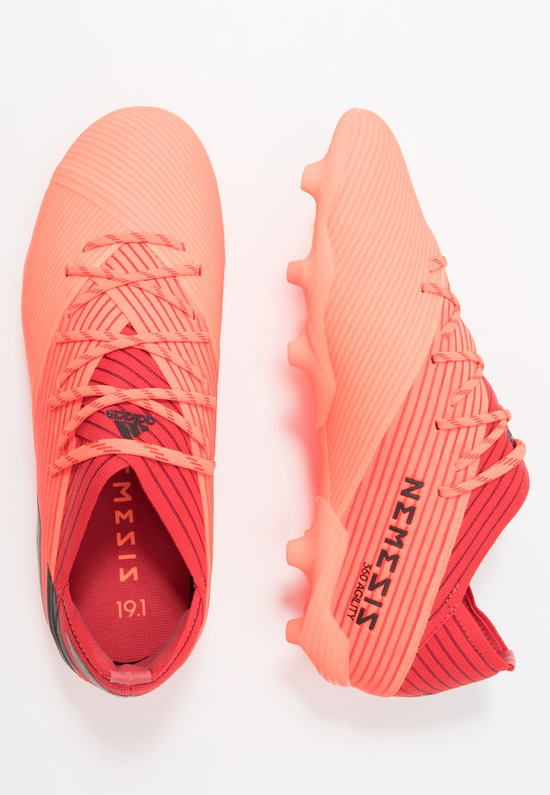 adidas Performance - NEMEZIZ 19.1 FG - Moulded stud football boots - signal coral/core black/red