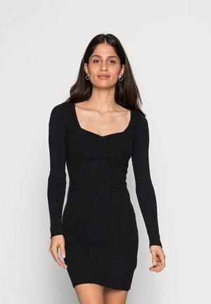 PARTY PORTRAIT NECK - Jumper dress - black