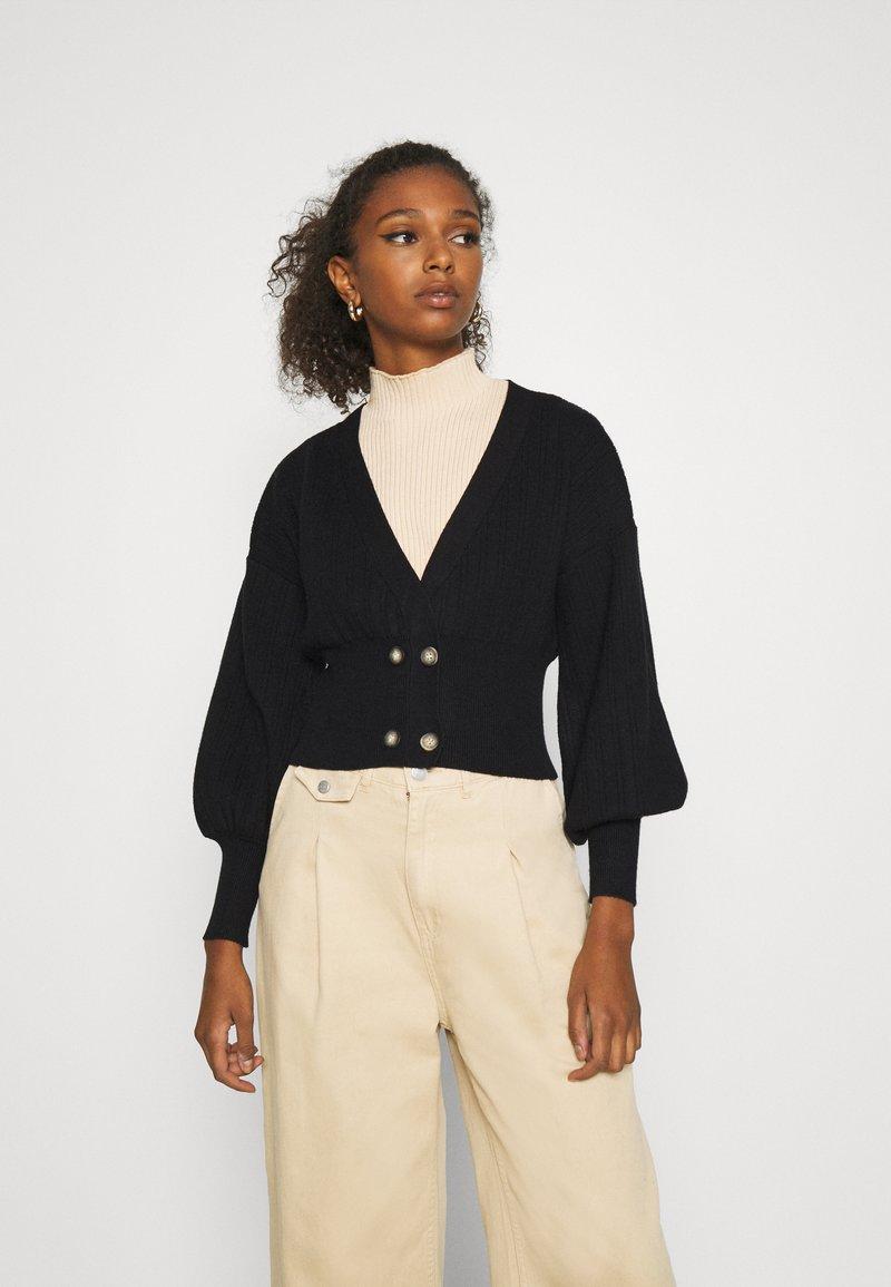 Fashion Union - MEEKER - Cardigan - black