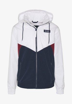 CHAIN - Summer jacket - white/burg/navy block