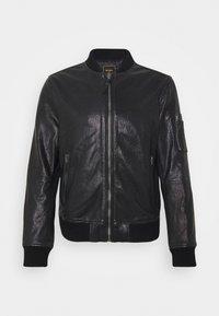 Superdry - Leather jacket - black - 0