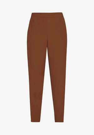 SLIM FLUID TROUSERS WITH ELEASTIC WAISTBAND - Trousers - tan