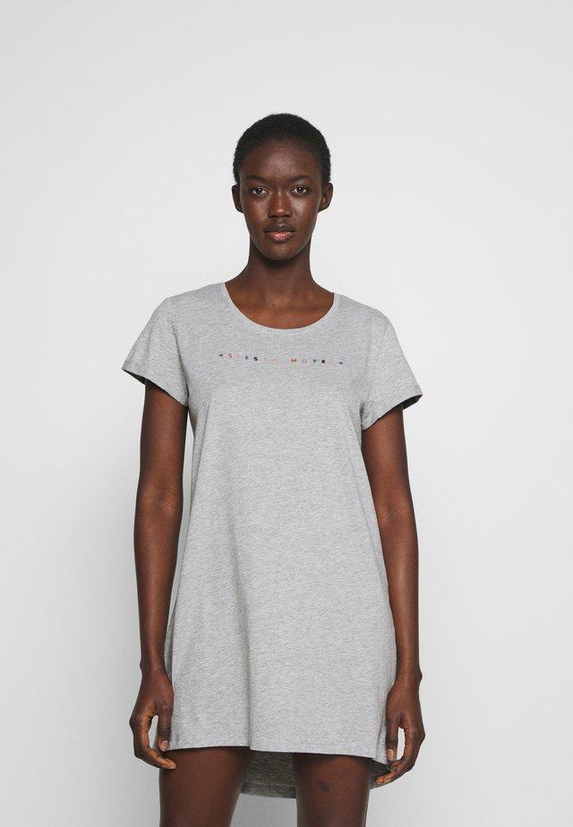 NIGHTIE NECK - Noční košile - light grey melange