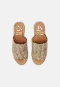 Kanna - CAPRI - Heeled mules - natural/beige - 4
