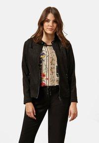 Elena Mirò - Faux leather jacket - black - 0
