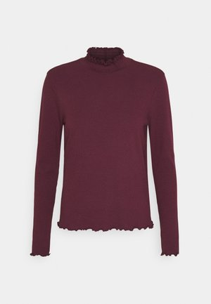 VMGLADYS HIGHNECK TOP - Long sleeved top - fig