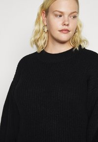 Vero Moda Curve - VMTUFURN  BALLOON NECK  - Jumper - black - 5