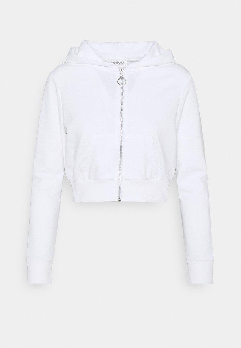 Even&Odd Petite - Zip-up hoodie - white