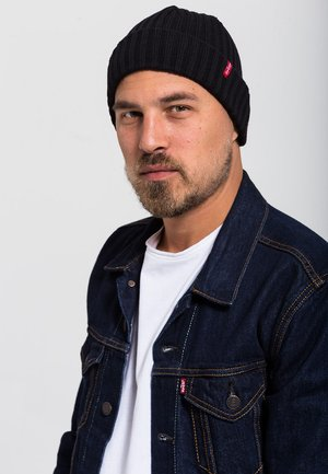RIBBED BEANIE - Bonnet - regular black