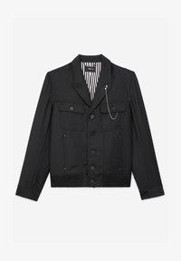 The Kooples - EN LAINE BOUTONNÉ À COL CRANTÉ - Light jacket - black - 6