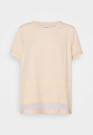 Camiseta estampada - abricot