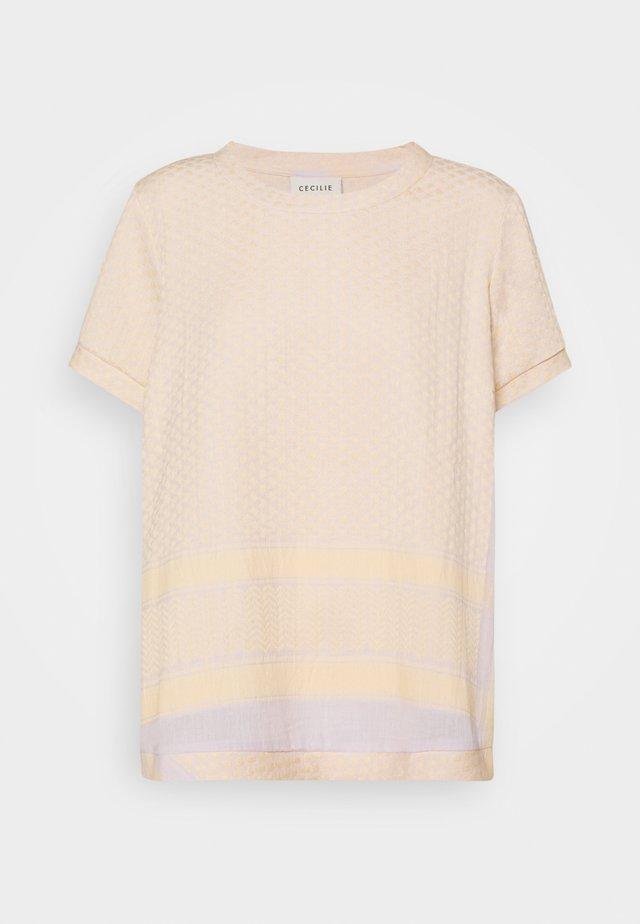 T-shirt print - abricot