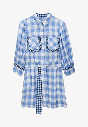 MIT VICHYKAROS  - Shirt dress - blue