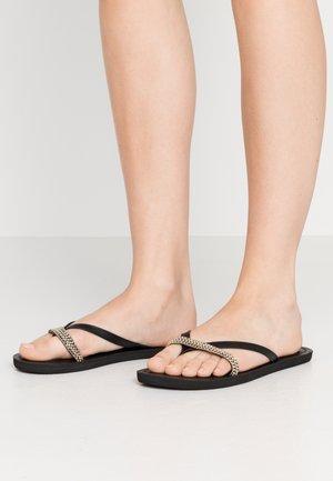 COCO - T-bar sandals - black/tan