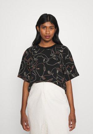 HILDA BLOUSE - T-shirts med print - black
