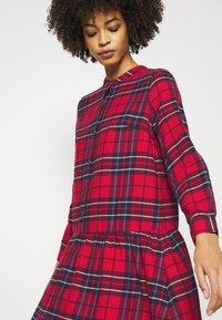 GAP - DRESS PLAID - Shirt dress - red - 4