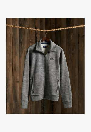 ORANGE LABEL CLASSIC TRACK - Zip-up hoodie - stone grey feeder